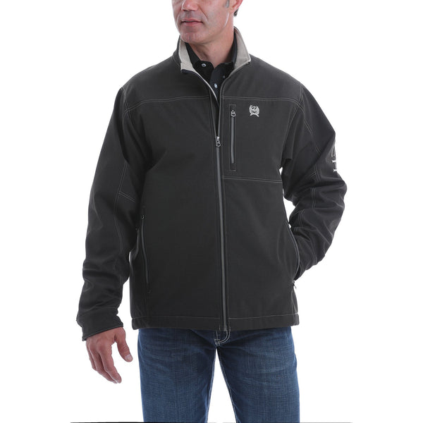 Cinch Men's Concealed Carry Bonded Jacket-Black/Silver