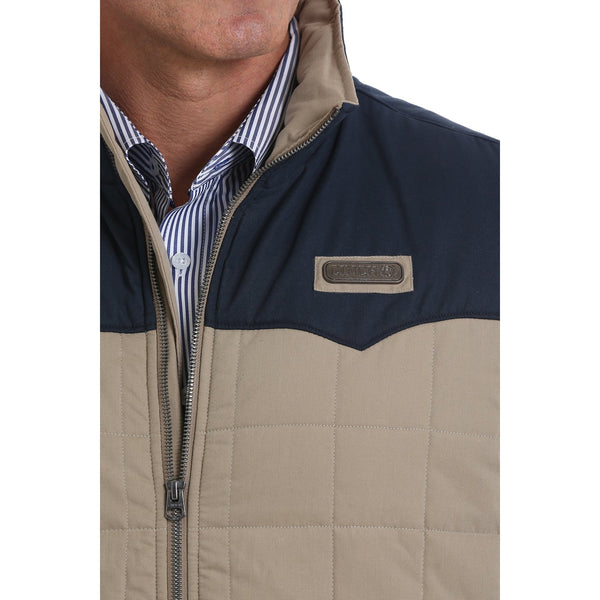 Cinch Mens Wax Coated Quilted Vest