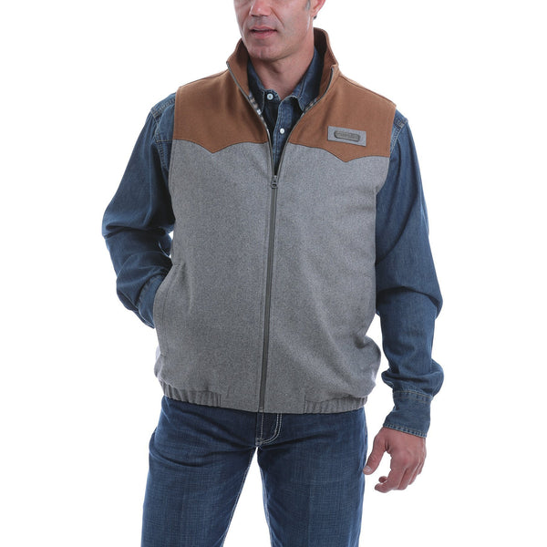 Cinch Men's Concealed Carry Vest-Gray/Brown