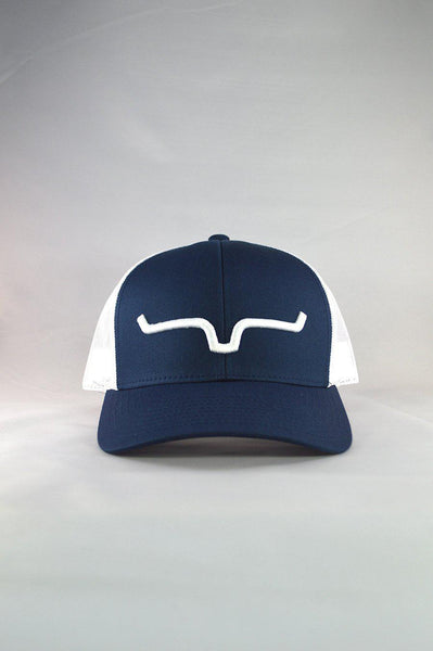 Kimes Ranch Weekly Trucker Navy/White - West 20 Saddle Co.