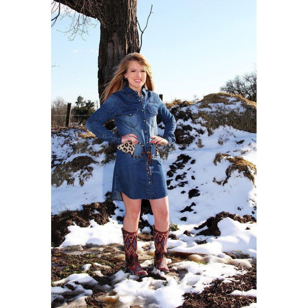 R Cinco Ranch Oakley Dos Denim Dress - West 20 Saddle Co.