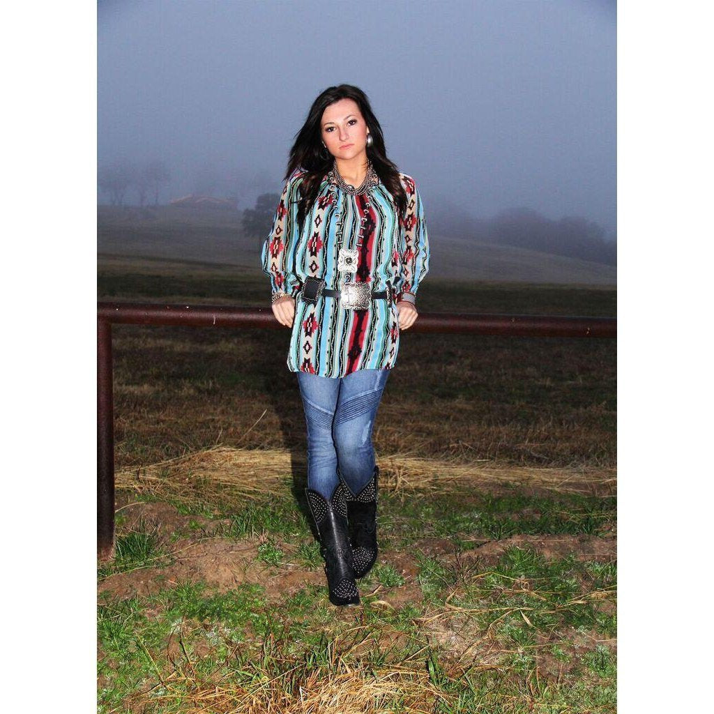 R Cinco Ranch Painted Skies Tunic - West 20 Saddle Co.