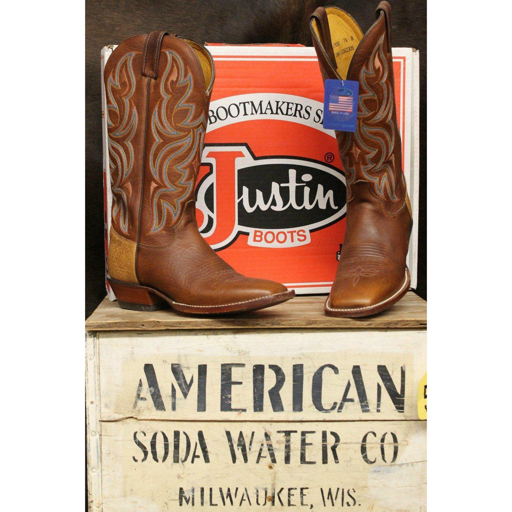 Justin Boots AQHA Remunda Mahogany Worn Saddle Women's Boots - West 20 Saddle Co.