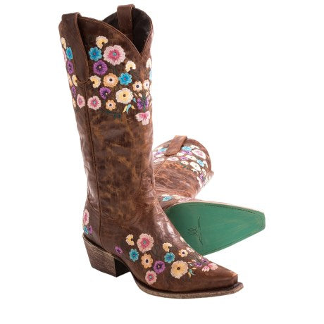 Lane Boots- Allie Floral Embroidered Women's Boots - West 20 Saddle Co.