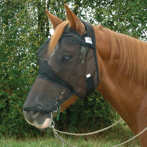 Cashel Quiet Ride Fly Mask- Long Nose - West 20 Saddle Co.