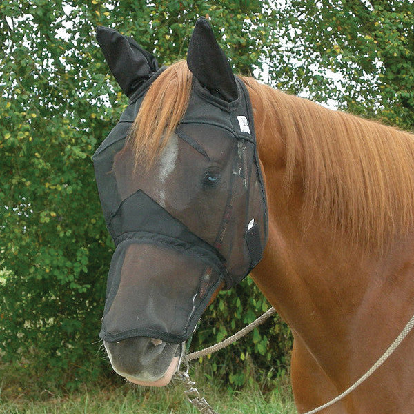 Cashel Quiet Ride Fly Mask- Long Nose with Ears - West 20 Saddle Co.