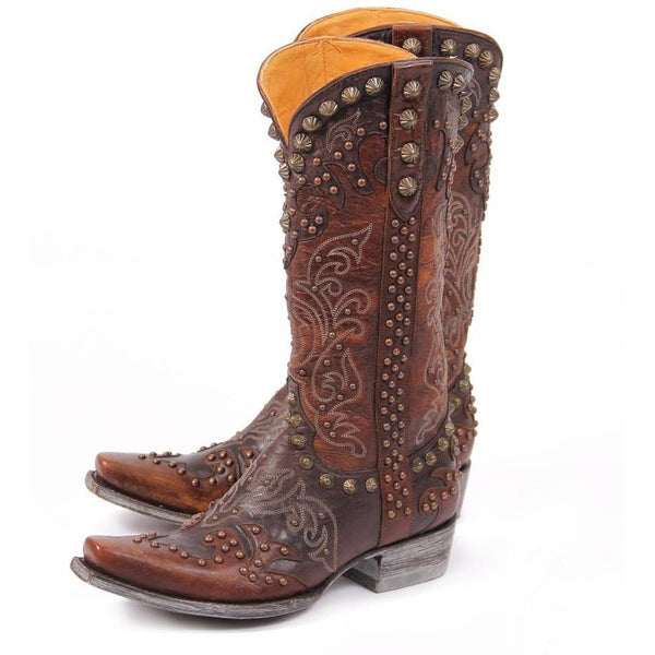 Old Gringo- Raelene Chocolate and Brass Women's Boots - West 20 Saddle Co.
