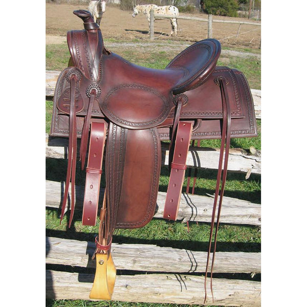 RW Bowman Mounted Shooter Saddle - West 20 Saddle Co.