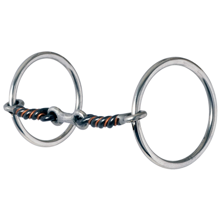 Reinsman Medium Loose Ring Three-Piece Sweet and Sour Dogbone Snaffle - West 20 Saddle Co.