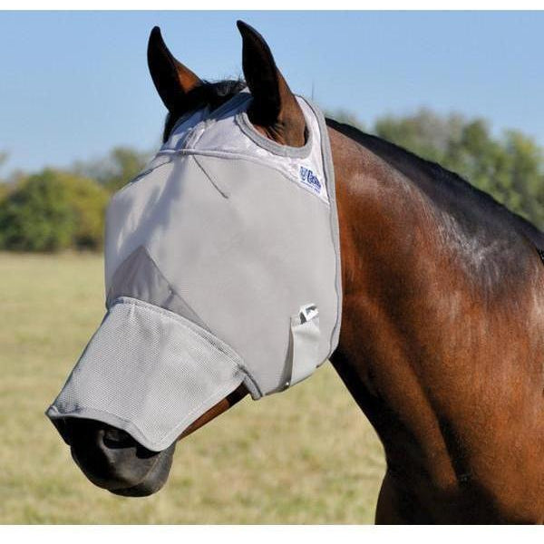Cashel Crusader Fly Mask- Long Nose without Ears - West 20 Saddle Co.