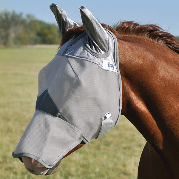 Cashel Crusader Fly Mask- Long Nose with Ears - West 20 Saddle Co.