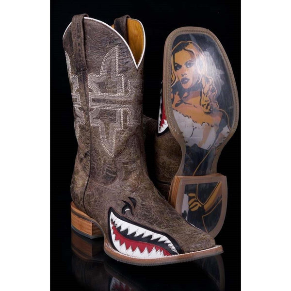 Tin Haul Toastin' A Gnarly Shark Men's Boot
