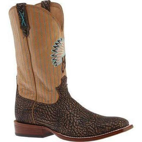Men's Hooey Brown Tippe Bull Hide/Crystal Boots