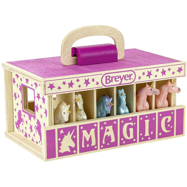 Breyer Unicorn Magic Wood Carry Stable