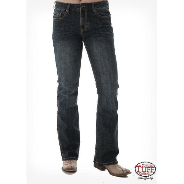 Cowgirl Tuff Natural Waist- Western Edge Dark - West 20 Saddle Co.
