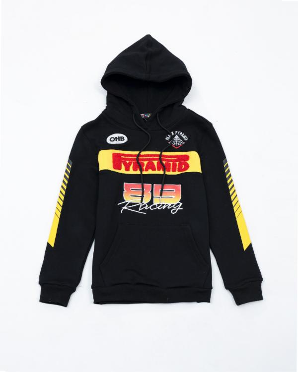 Kids Pyramid Racing Team Hoody - Color: Black