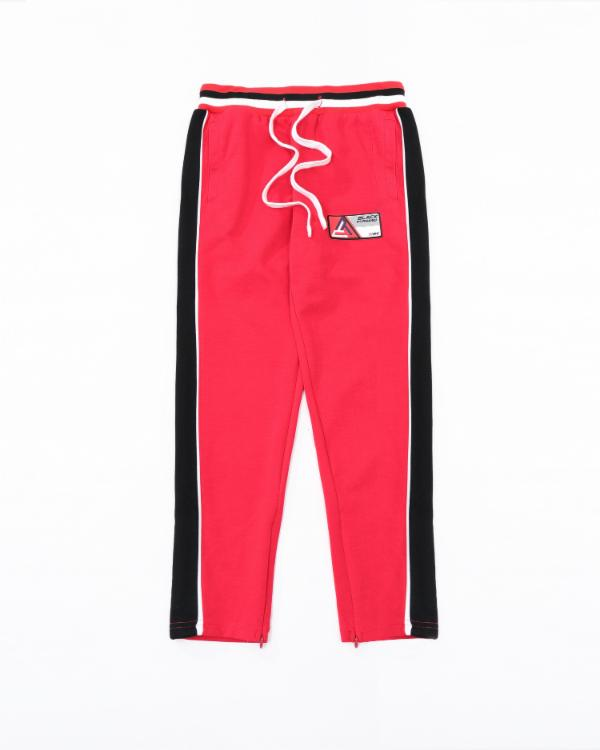 Kids BP Rubber Patch Track Pant - Color: Red