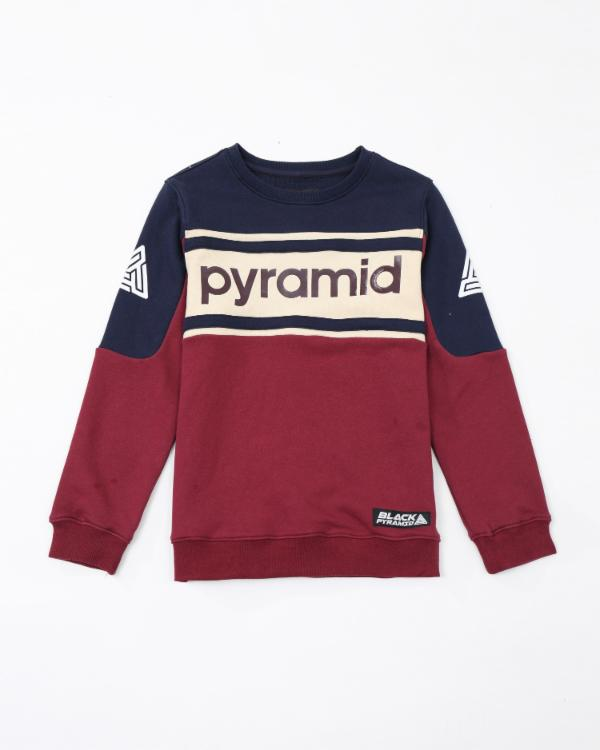 Kids Pyramid Jersey Crewneck - Color: Burgundy