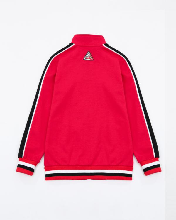 Kids BP Rubber Patch Track Jacket - Color: RED