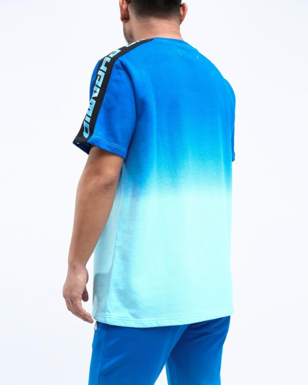DIP DYE PASTEL CORE SS SHIRT CK - Color: Blue