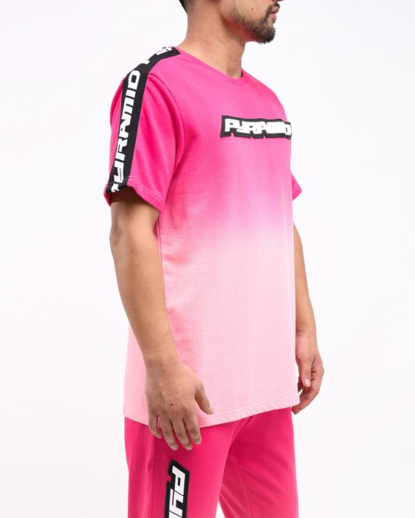 DIP DYE PASTEL CORE SS SHIRT CK - Color: Pink