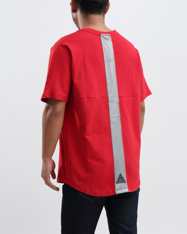 OVERSIZED LOGO DOLMAN SHIRT - Color: RED