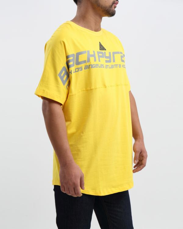OVERSIZED LOGO DOLMAN SHIRT - Color: YELLOW