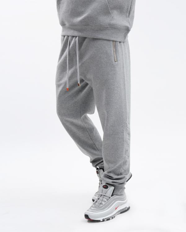 EMBOSSED LOGO JOGGER-COLOR: HEATHER GRAY