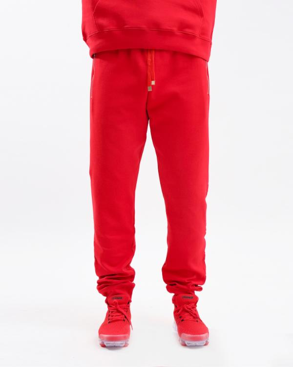 EMBOSSED LOGO JOGGER-COLOR: RED