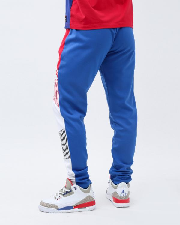 BP SHOULDER STRAP LOGO TRACK PANT-COLOR: ROYAL BLUE