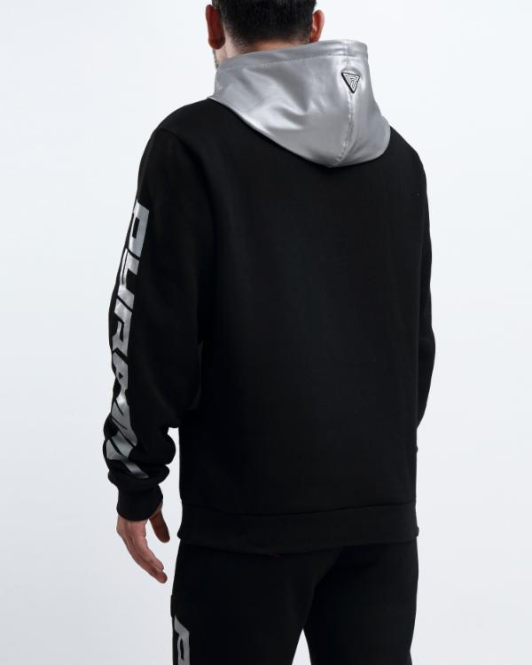 PYRAMID REFLECTIVE HOODY-COLOR: BLACK