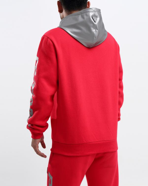 PYRAMID REFLECTIVE HOODY-COLOR: RED