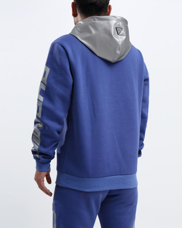 PYRAMID REFLECTIVE HOODY-COLOR: ROYAL BLUE