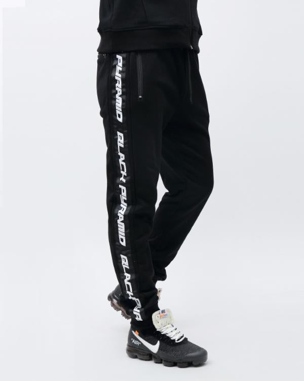 SPEED STRIPE LOGO JOGGER-COLOR: BLACK