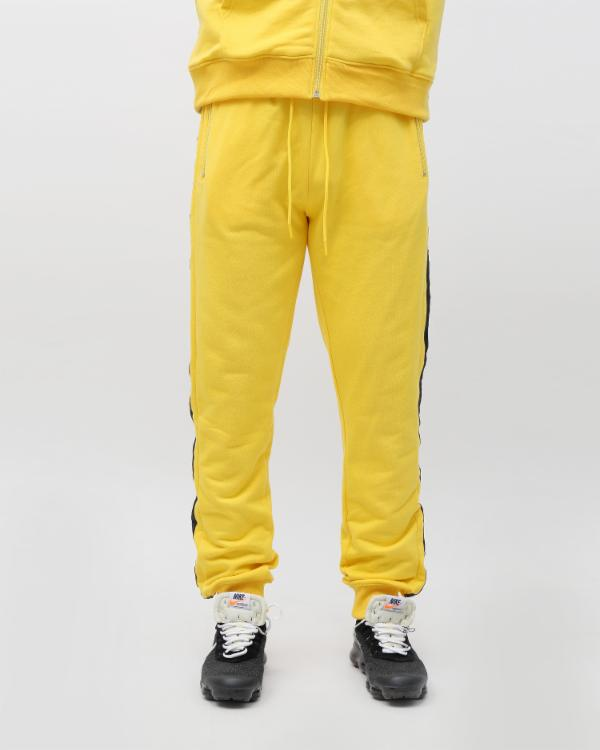 SPEED STRIPE LOGO JOGGER-COLOR: YELLOW