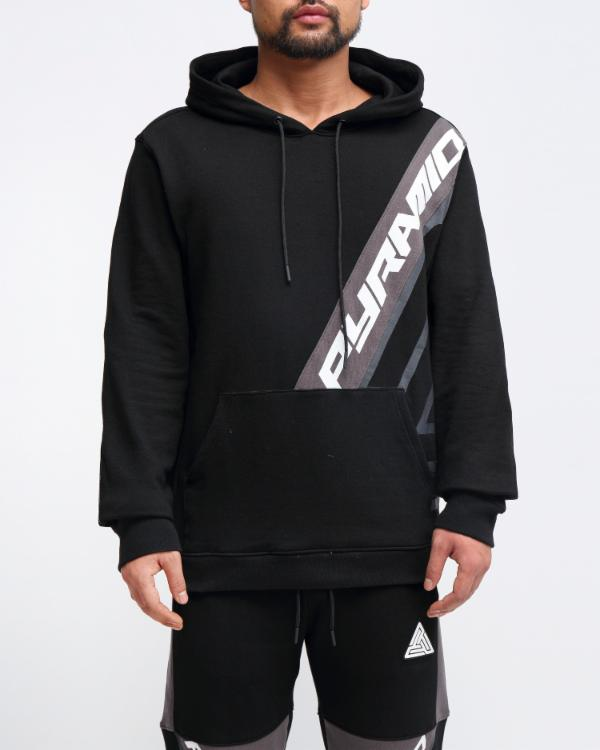 MESH INSERT HOODY-COLOR: BLACK
