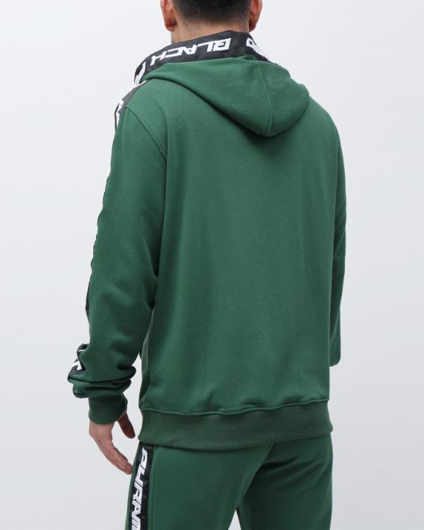 SPEED STRIPE LOGO FULL ZIP HOODY-COLOR: GREEN