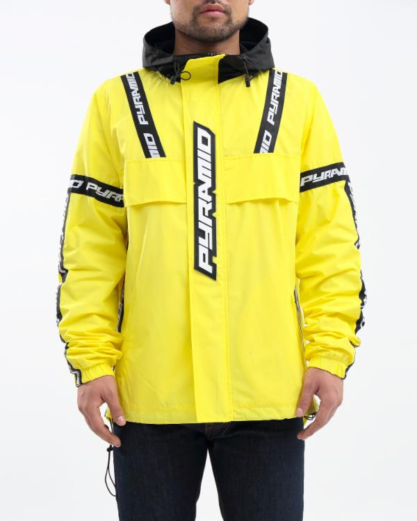 BP LOGO TAPE PULLOVER JACKET-COLOR: YELLOW