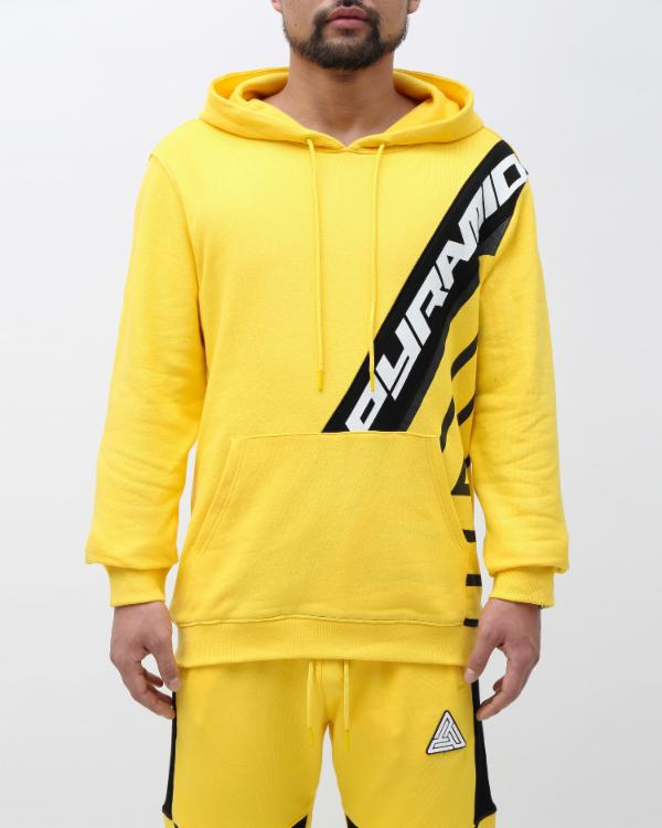 MESH INSERT HOODY-COLOR: YELLOW