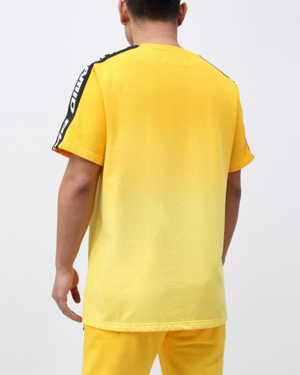 DIP DYE PASTEL CORE SS SHIRT CK - Color: Yellow