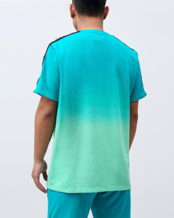 DIP DYE PASTEL CORE SS SHIRT CK - Color: Green