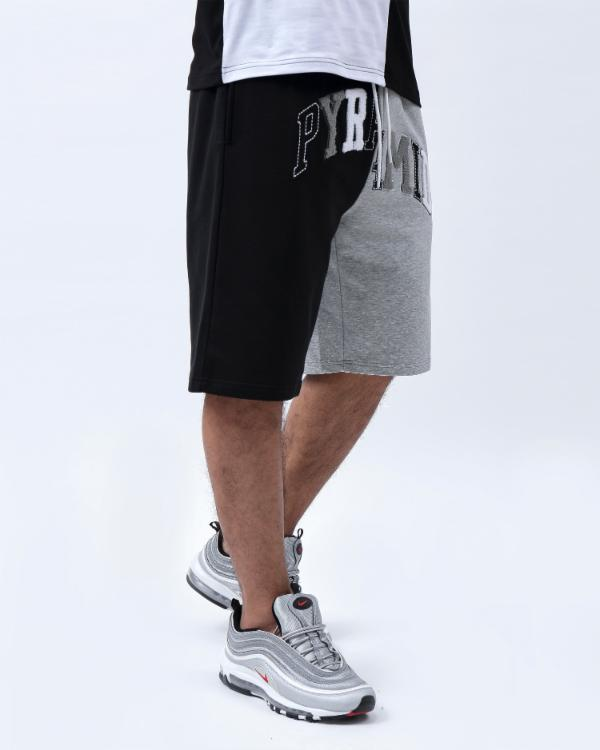 VARSITY SPLIT SHORT-COLOR: BLACK