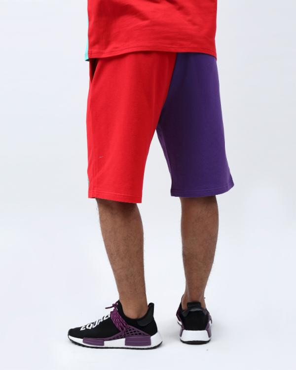 VARSITY SPLIT SHORT-COLOR: PURPLE