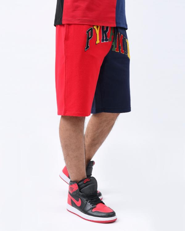 VARSITY SPLIT SHORT-COLOR: RED