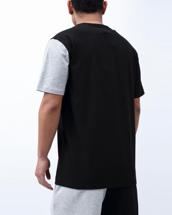 VARSITY SPLIT SHIRT-COLOR: BLACK