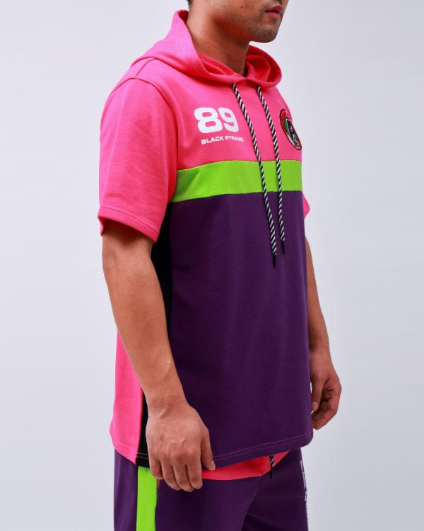 OCEAN DRIVE SUFFING S/S HOODY-COLOR: MULTI COLOR