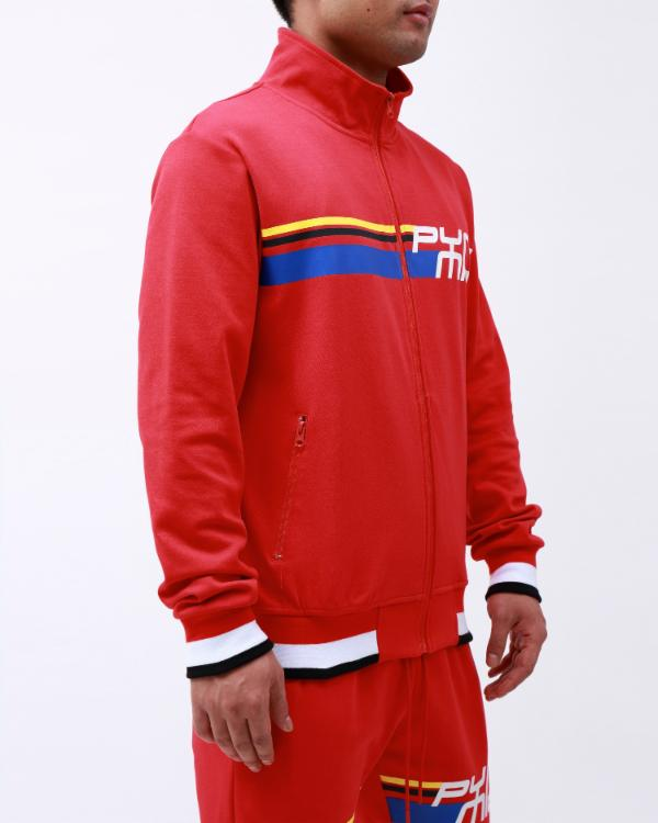 BP FUTURE CLASSIC TRACK JACKET-COLOR: RED