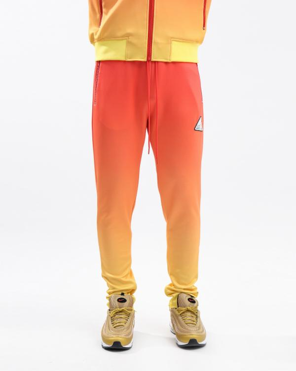 IRDECENT PRINT DIP DYE TRACK PANT-COLOR: ORANGE