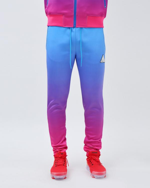 IRDECENT PRINT DIP DYE TRACK PANT-COLOR: LT BLUE