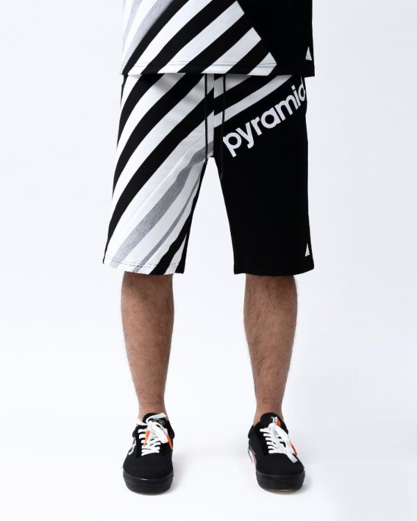 MULTI STRIPE SHORT-COLOR: BLACK